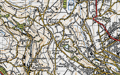 Old map of Mount Tabor in 1947
