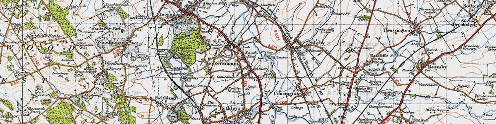 Old map of Mountsorrel in 1946