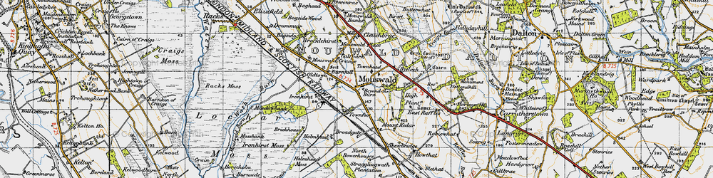 Old map of West Raffles in 1947
