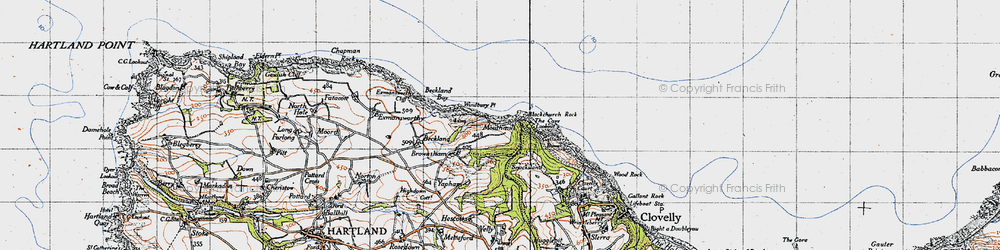 Old map of Windbury Point in 1946