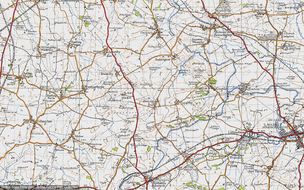 Old Map of Mowsley, 1946 in 1946