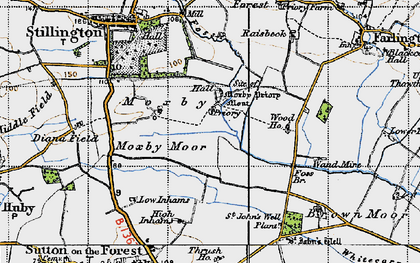 Old map of Whitecarr Beck in 1947