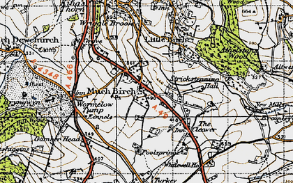 Old map of Much Birch in 1947