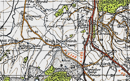 Old map of Much Dewchurch in 1947