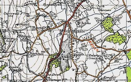 Old map of Much Marcle in 1947