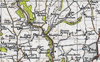 Old map of Whitefield Down in 1946