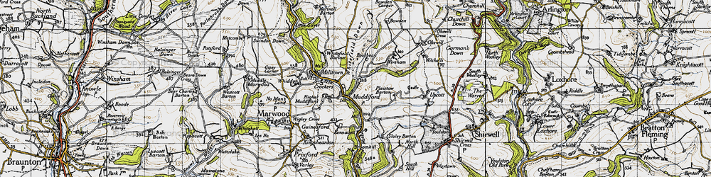 Old map of West Plaistow in 1946