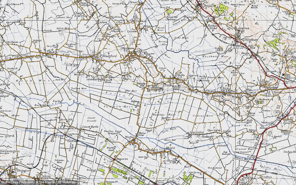 Old Map of Mudgley, 1946 in 1946