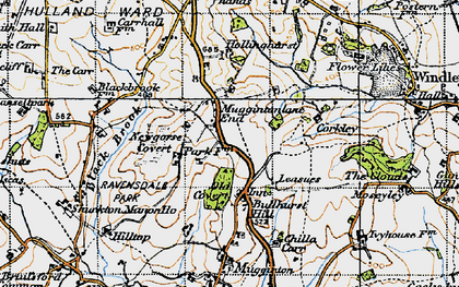 Old map of Leasow in 1946