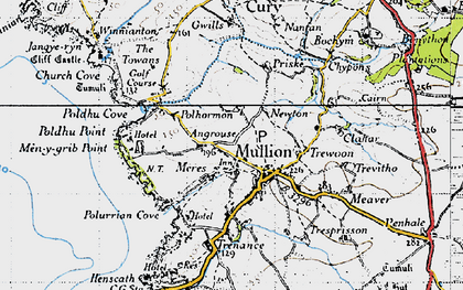 Old map of Mullion in 1946