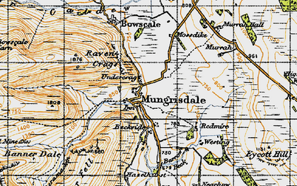 Old map of Bannerdale in 1947