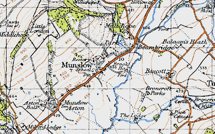 Old map of Aston Deans in 1947