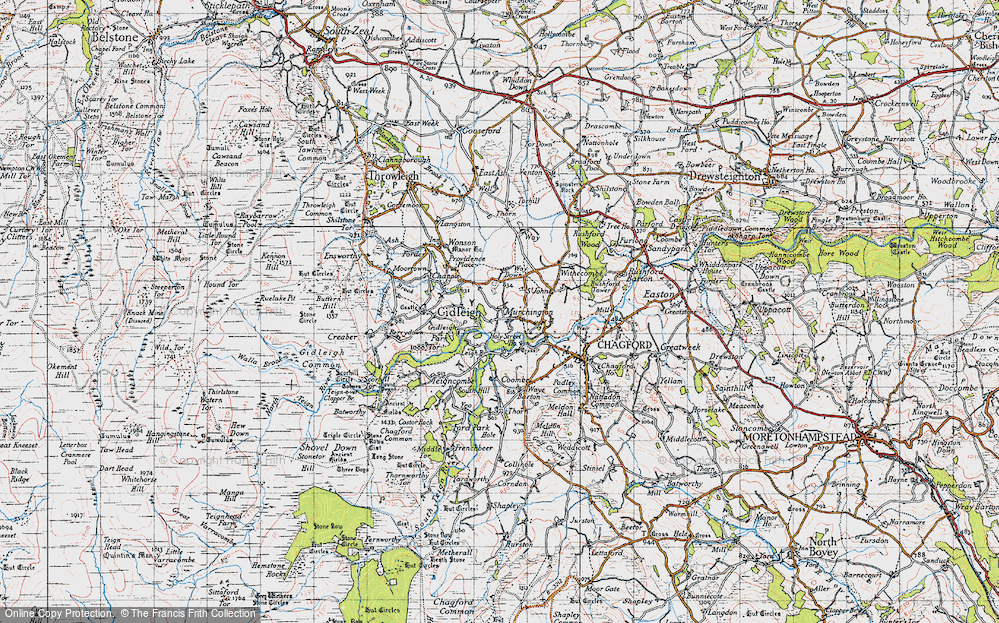 Old Map of Murchington, 1946 in 1946