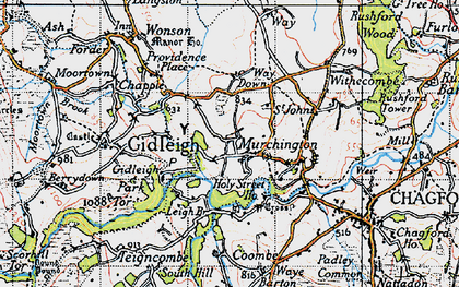 Old map of Murchington in 1946
