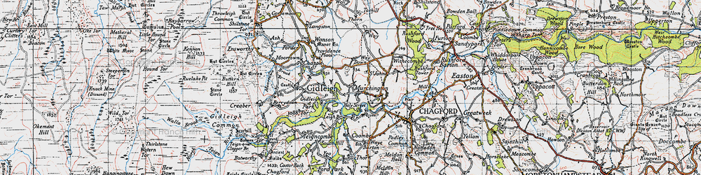 Old map of Withecombe in 1946