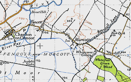 Old map of Whitecross Green in 1946