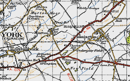 Old map of Yorkshire Museum of Farming in 1947