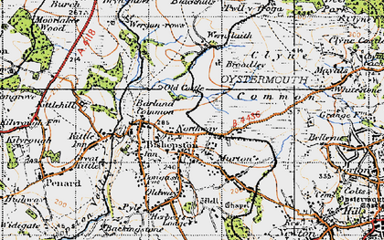 Old map of Murton in 1947