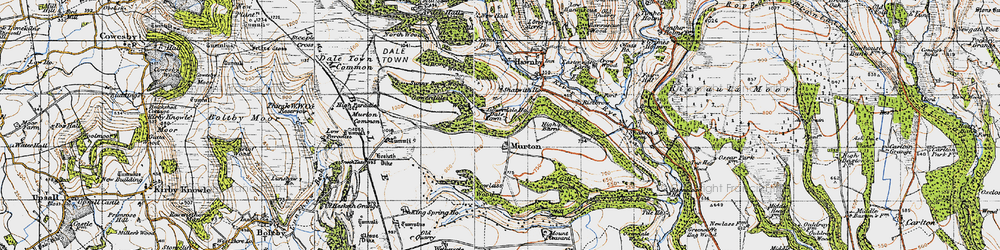 Old map of Wethercote in 1947
