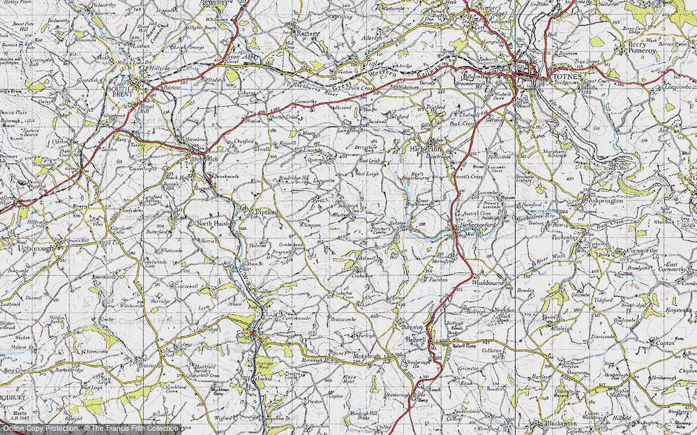 Old Map of Historic Map covering Larcombe in 1946