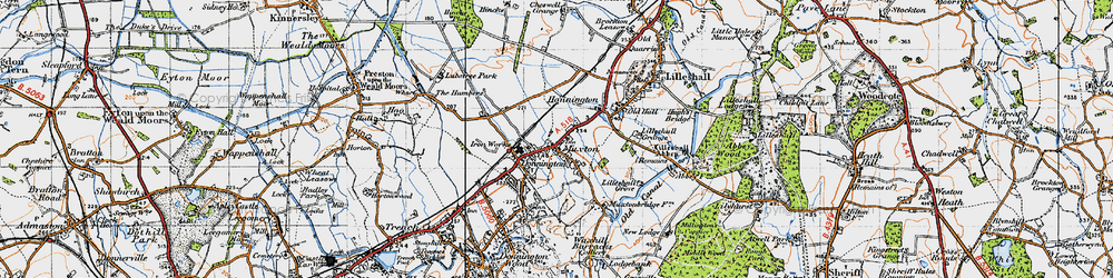Old map of Lilleshall Grange in 1946