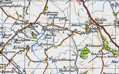 Old map of Leasows, The in 1947
