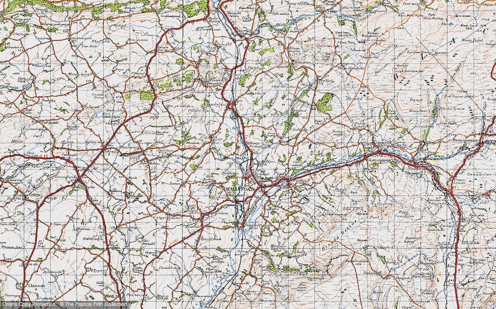 Old Map of Myddyn-fych, 1947 in 1947