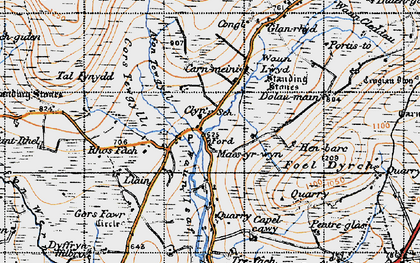 Old map of Ynysfawr in 1946