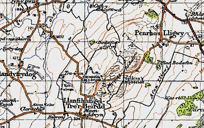 Old map of Afon Lligwy in 1947