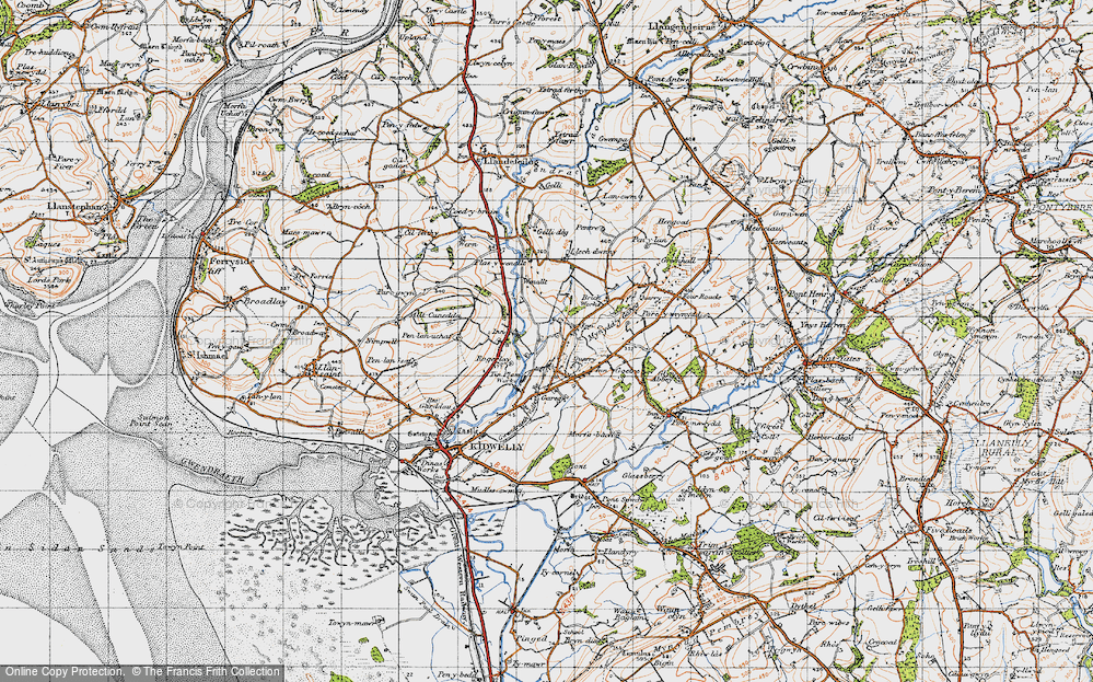 Old Map of Historic Map covering Allt-Cunedda in 1946