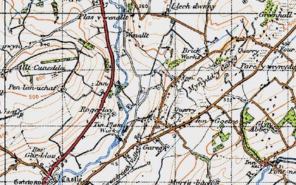 Old map of Allt-Cunedda in 1946