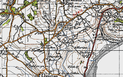 Old map of Mynytho in 1947