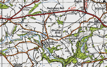 Old map of Woodfold Hall in 1947