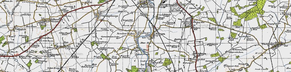 Old map of Naburn in 1947