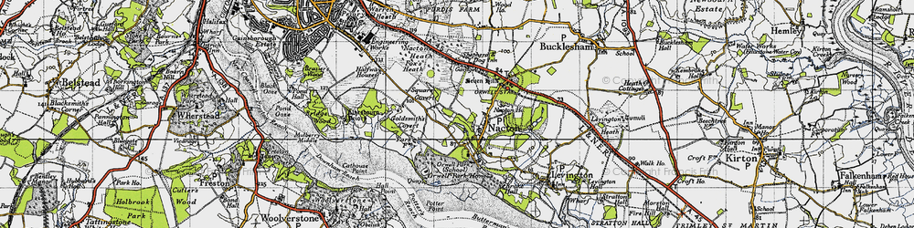 Old map of Amberfield in 1946
