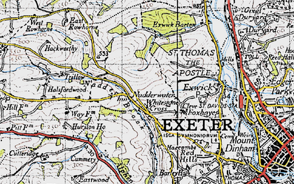 Old map of Alphin Brook in 1946