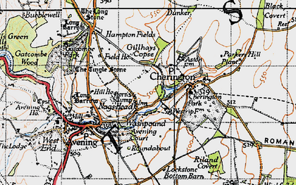 Old map of Westrip Farm Ho in 1946