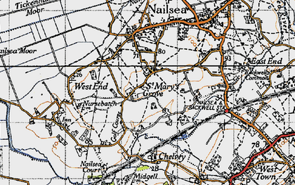 Old map of Nailsea in 1946