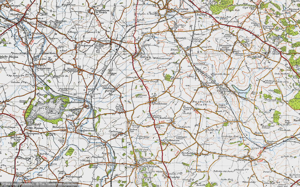 Old Map of Nailstone, 1946 in 1946