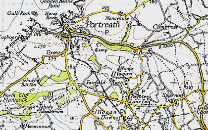 Old map of Nance in 1946