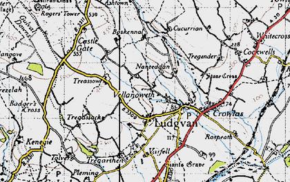 Old map of Nanceddan in 1946
