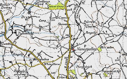 Old map of Nancegollan in 1946