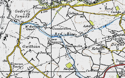 Old map of Nancemellin in 1946