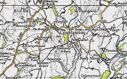 Old map of Nancenoy in 1946