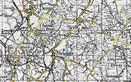 Old map of Nanpean in 1946