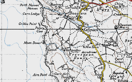 Old map of Aire Point in 1946
