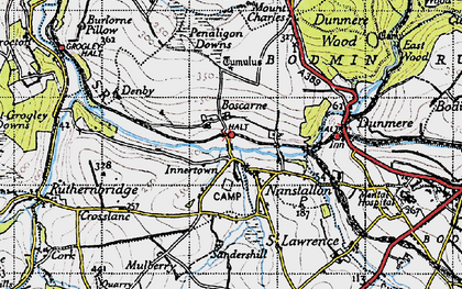 Old map of Nanstallon in 1946