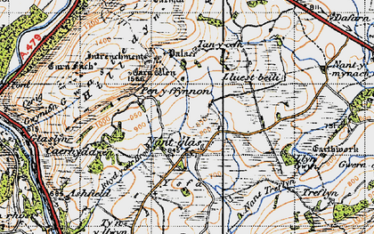 Old map of Yr Hysfa in 1947