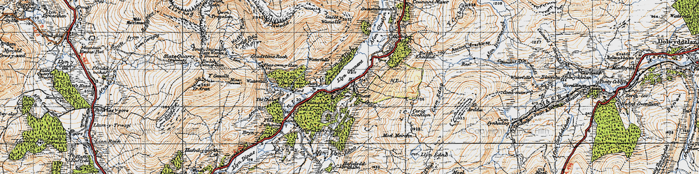 Old map of Afon Llynedno in 1947