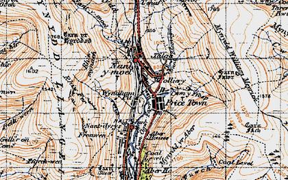 Old map of Nant-y-moel in 1947